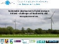 Sustainable development of wind energy in Ireland - challenges of biodiversity and ecosystem services - David Bourke