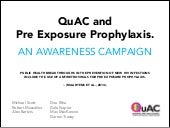 QuAC and Pre Exposure Prophylaxis: an awareness campaign