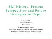 1502 - SRI History, Present Perspectives and Future Strategies in Nepal