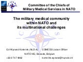 The Military Medical Community With...