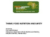 Food Nutrition and Safety