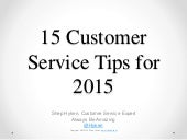 15 Customer Service Tips for 2015