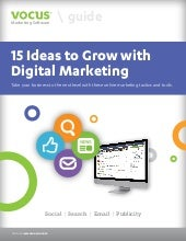 Vocus 15 digital marketing ideas to...