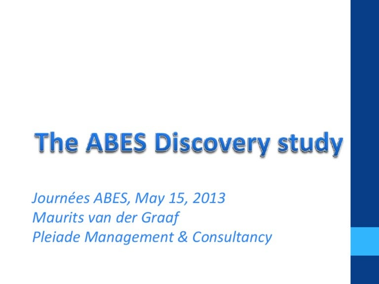 The ABES Discovery Study