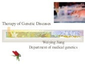 15 Therapy Of Genetics Diseases