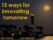 15 ways for innovating tomorrow