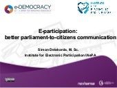 Better parliament-to-citizen commun...