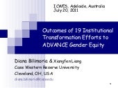 ICWES15 - The Outcomes of 19 Instit...