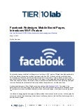 Facebook Redesigns Mobile Brand Pages, Introduces Wi-Fi Feature
