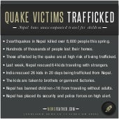 Quake Victims Trafficked