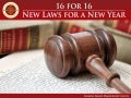 16 for 16: New laws for a New Year