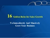 16 golden rules to increase sales