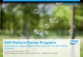 SAP Platform Partner Programs Intro...