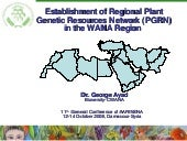 Establishment Of Regional PGRN at W...
