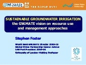 Sustainable Groundwater Irrigation ...