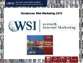 Tendances Web Marketing 2013