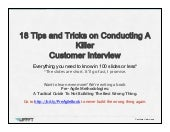 18 Tips on Conducting Killer Customers Interviews