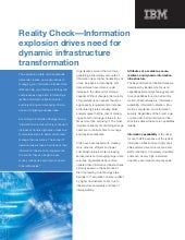 Reality Check: Information explosio...