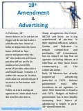 18th Amendment & Advertising