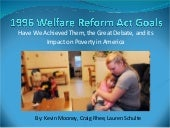 1996 Welfare Reform Act Goals