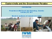 Eastern India and the Groundwater P...