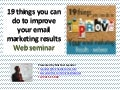 19 things to improve your email marketing webinar