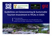 Guidelines on sustainable tourism concessions in SADC TFCAs Anna Spenceley
