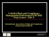 Certified Risk and Compliance Manag...