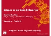 Science as an Open Enterprise – Geo...