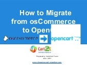 How to Migrate from osCommerce to O...