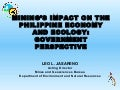 Leo Jasareno presentation at Conference on Mining's Impact on Philippine Economy and Ecology