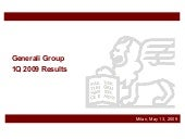 Generali Group 1Q 2009 Results