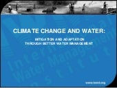 Climate Change and Water: Mitigatio...