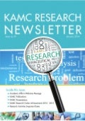 1st KAMC Research Newsletter  - January 2014
