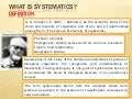 What is Systematics