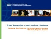 Open Innovation –tools and mechanis...