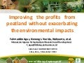 Improving the profits  from peatland without exacerbating the environmental impacts- By Fahmuddin Agus (Indonesia)