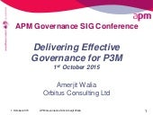 2. Amerjit Walia - delivering good governance for p3m GOV011015