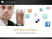 Social Media Intelligence - Listening, Engaging & Adapting