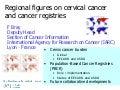 Regional Figures on Cervical Cancer and Cancer Registries by  Freddie Bray