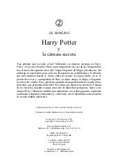 2  harry potter y la cámara secreta