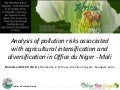 Th2_Analysis of pollution risks associated with agricultural intensification and diversification in Office du Niger - Mali