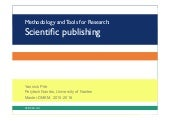Tools and Methodology for Research: Scientific Publishing