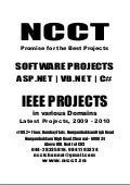 2   Sw   Dot Net Project T Itles, Ieee 2009, Etc., Year 2009   2010