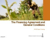The financing agreement and general...