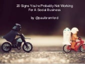 20 Signs You're Probably Not Working For a Social Business