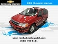 Used 2001 Chevrolet Venture Minivan/Van at your Chevy Cincinnati Ohio Dealer