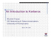 An Introduction to Kerberos