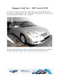 Used Vehicles Singapore : 2003 LEXUS ES300 - IBC Japan