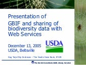 GBIF web services for biodiversity ...